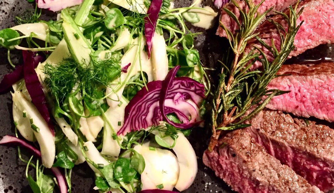 Entrecôte mit buntem Salat | My Honey Pot